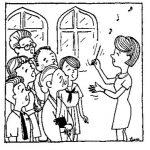 クリスマスの賛美歌練習中!